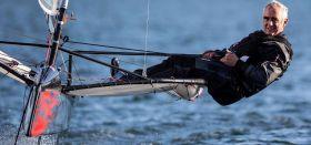 Artemis Steuermann Loick Peyron auf einer Moth