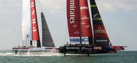 Team New Zealand und Luna Rossa