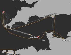 Verkürzter Kurs beim Normandy Channel Race.