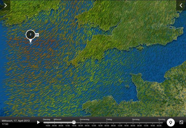 Jede Menge Druck in der Luft in der irischen See ab morgen Nachmittag.