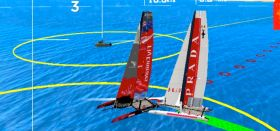 Luna Rossa und Team New Zealand kollidieren beim Match Race