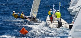 Pfadfinder-Start bei der 505er WM in Barbados.
