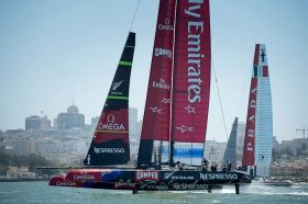 Emirates Team New Zealand Luna Rossa.