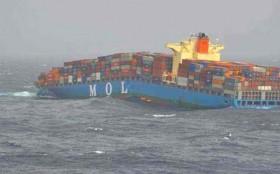 MOL, auseinander gebrochen, Schiffsunglück