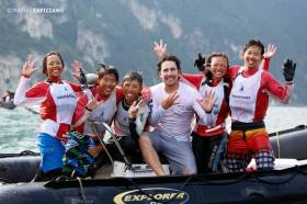 Team-Weltmeister: Die Opti-Kids aus Singapur © opti-worlds
