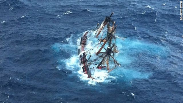 ein berühmtes Schiff sinkt – und 16 Personen müssen gerettet werden. © coast guard