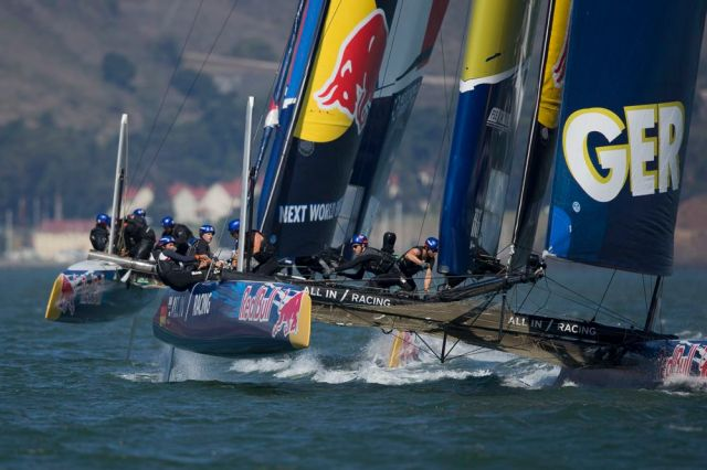 Das deutsche Juniorenteam segelte beim Youth America's Cup auf Rang neun. © Jens Hoyer / All In Racing