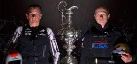 Dean Barker (l.) und James Spihill duellieren sich um den America's Cup. © ACEA / GILLES MARTIN-RAGET
