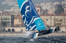 The Wave Muscat stürmt an die Spitze im Act 7 vor Nizza © Estreme Sailing Series