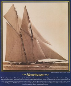 Mit dieser Anzeige der Adela ex Heartsease wurde lange und vergeblich für die Wiederherstellung des Schiffes in den Originalzustand geworben