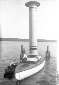 Eine Rotor-Yacht in den Zwanzigerjahren am Wannsee © bundesarchiv bild