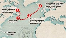 Der Drift des Russischen Geisterschiffes © irish coast guard