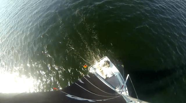 GoPro-Klassiker für Segler: Aufnahme aus dem Mast © boden