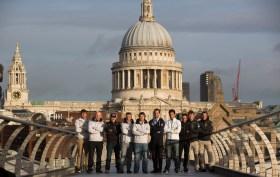 Die Skipper der Extreme Sailing Series 2014 präsentieren sich in London. © Lloyd Images