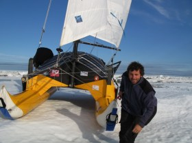 Nordpol, Katamaran, Eis, Segeln