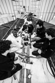 Men at work: ein neues Rigg für die schnelle Spindrift 2 © spindrift