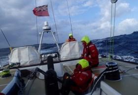 "Ruhig un besonnen reagiert – die Crew der ""Derry-Londonderry-Doire"" © Clipper Race"
