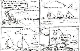 Diese hübschen friedlichen Segelboote...