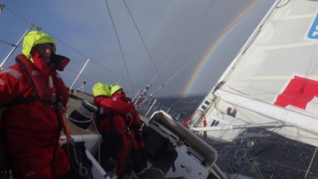 Verdammt hartes Wetter im nördlichen Pazifik © Clipper Race