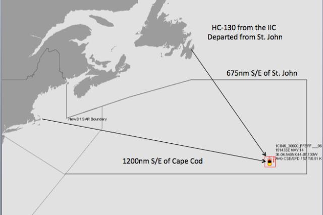 Mitten auf dem Atlantik kam die eine, doppelt so hohe Welle © US Coast Guard