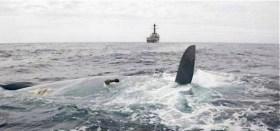 """Die """"Rafiki"""" ohne Kiel, mitten im Atlantik © US Navy"""