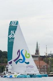 Auch 2012 segelte die MOD70 schon mal vor Kiel © Oman Sail