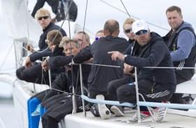 """Die Crew der """"Spirit of Europe"""" mit Skipper Tim Kröger (mit Käppi ) © Nordstream"""