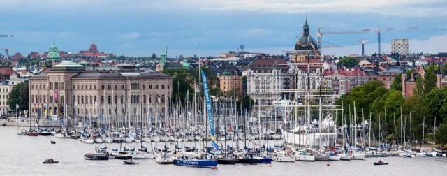 Großer Auflauf im Stadthafen von Stockholm vor dem Start zum AF Offshore Race.  © Oskar Kihlborg / KSSS