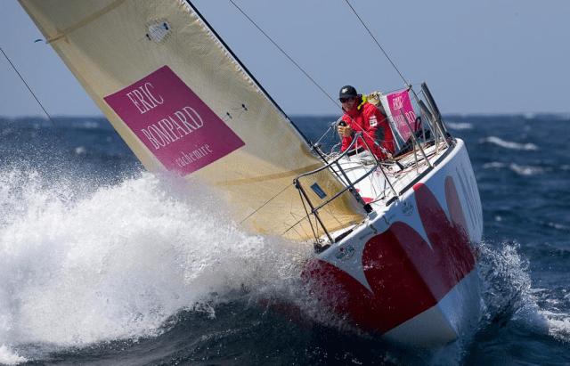 Sieger der Solitaire du Figaro 2014: Jeremie Beyou © courcoux