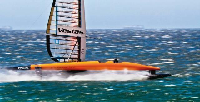 Rast bald ein ähnlich aussehendes Gerät über die Ozeane? © vestas sailrocket