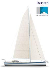 Für ein Fahrtenboot ist 'Anabel' generös besiegelt. Die Kuttertakelung und bequeme Reffmöglichkeiten fürs Groß machen sie handlich © K&M Werft