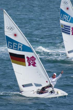 Simon Grotelüschen hat mit Platz 6 bei den Olympischen Spielen 2012 seine herausragende Laser Karriere beendet © ??