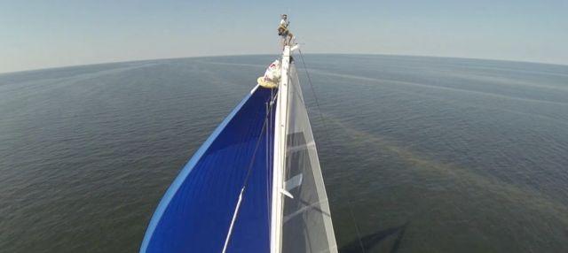 In gut 35 Metern Höhe auf der Swan 90. © Nautor