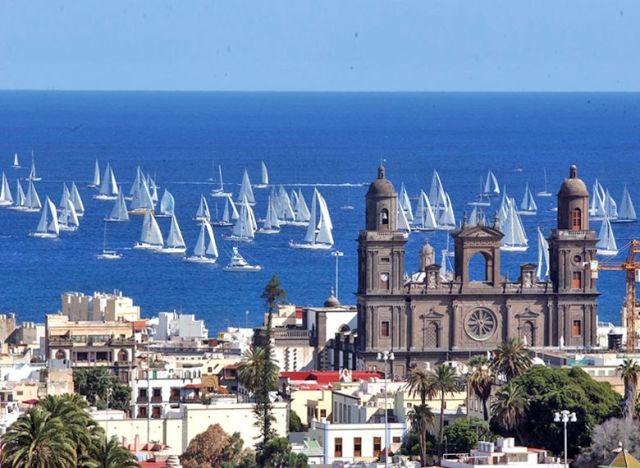 Startspektakel vor der Kathedrale von Las Palmas © ARC