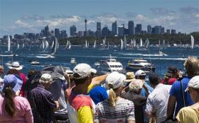 """Für die Segel-verrückten Australier ein """"Must-be-there""""-Event © Forster"""