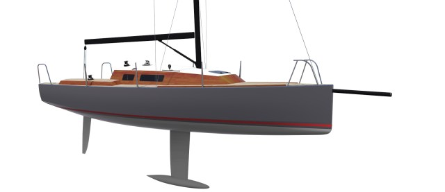Moderne Anhängsel mit tiefem T-Kiel und Spatenruder dürften die Avanti 26 gescheit segeln lassen © Hans-Jürgen Segbers/Performance Yacht Design