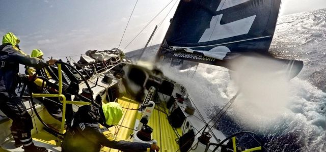 Brunel gibt auf dem Nordkurs richtig Gas. © Stefan Copper / Team Brunel / Volvo Ocean Race