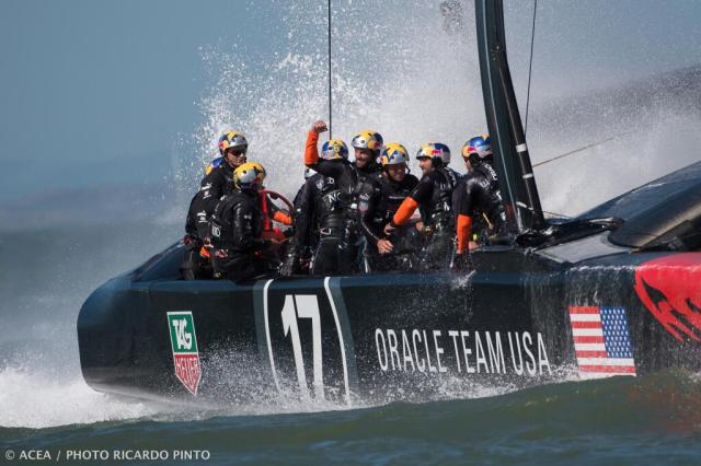 Lag weit zurück und siegte dennoch medienwirksam: Das Oracle Team USA © ac