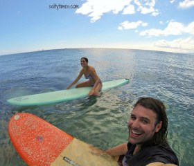 Surfen – die andere Leidenschaft der beiden © salty times