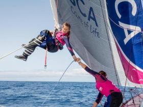 Die besten Hochseeseglerinnen vereint auf einem Schiff. © team SCA