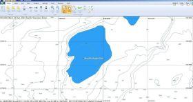 So sah Wouter Verbraak das betreffende Seegebiet auf seinem Computer.