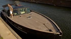 Pinasse: Das stylische Regattabegleitboot von Thomas Friese. © Hinnerk Stumm