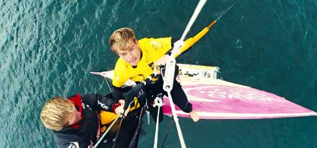 Volvo Ocean Race, Ian Walker, Kitesurf, Mast Jump
