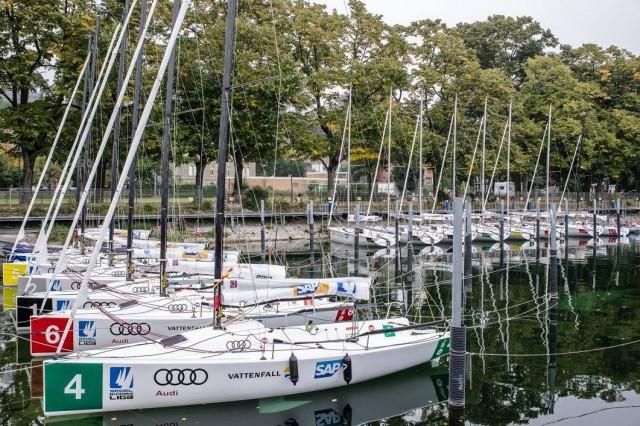 Die Flotten der ersten und zweiten Liga am Bodensee. © Sven Jürgensen/DSBL