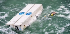 Container über Bord