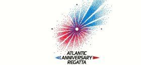 Das Atlantic Anniversery  Logo soll den vorherrschenden Windbedingungen bei hin und Rück-Regatta entsprechen.