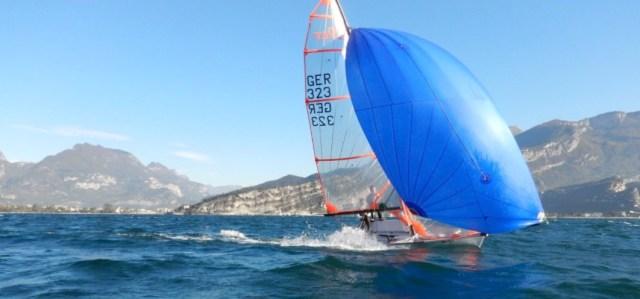 29er Training der Jugendabteilung des Yachtclub Radolfzell am Gardasee © YCRA