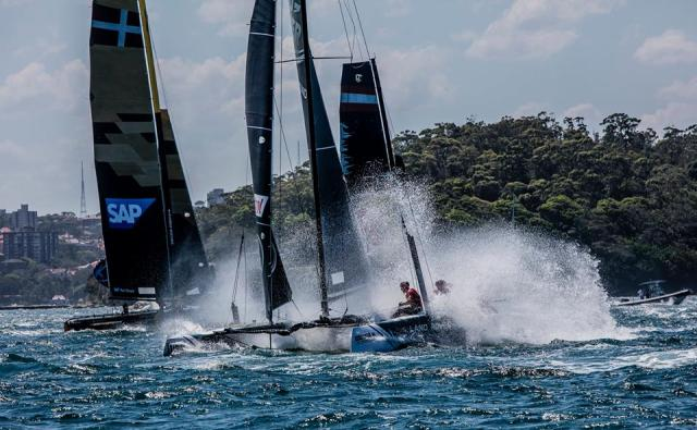 Extreme Sailing Series, Kenterung