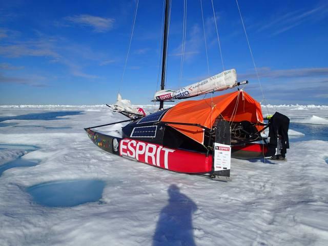 Nordpol, Abenteuer, Katamaran, schieben