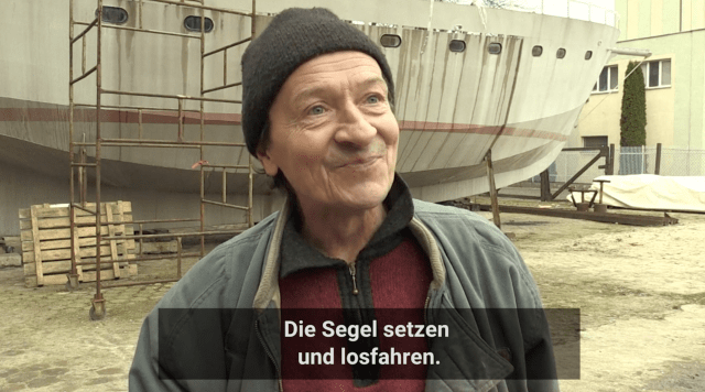 Obdachlose, Polen, Boot bauen